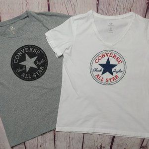 Converse Womens LOT of 2 S/S T-Shirts MED EUC